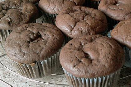 Schoko - Muffins mit Kokos - Herz 126