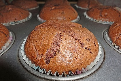 Schoko - Muffins mit Kokos - Herz 68