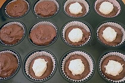 Schoko - Muffins mit Kokos - Herz 122