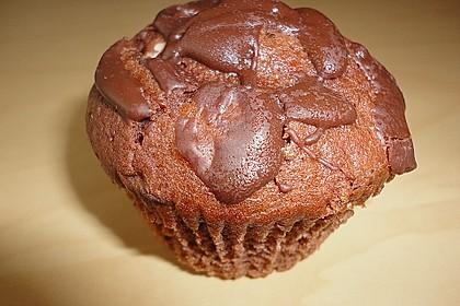 Schoko - Muffins mit Kokos - Herz 124