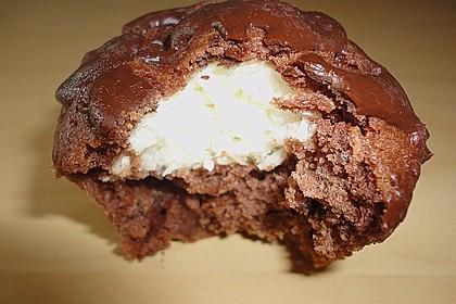 Schoko - Muffins mit Kokos - Herz 84