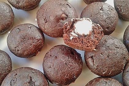 Schoko - Muffins mit Kokos - Herz 66