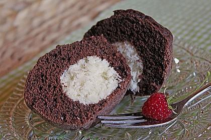 Schoko - Muffins mit Kokos - Herz 2
