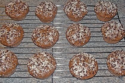 Schoko - Muffins mit Kokos - Herz 89