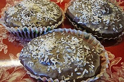 Schoko - Muffins mit Kokos - Herz 90