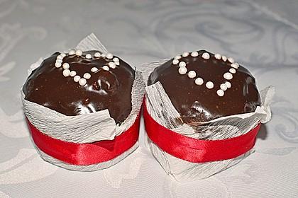 Schoko - Muffins mit Kokos - Herz 80