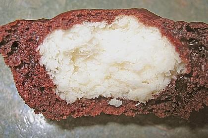 Schoko - Muffins mit Kokos - Herz 75
