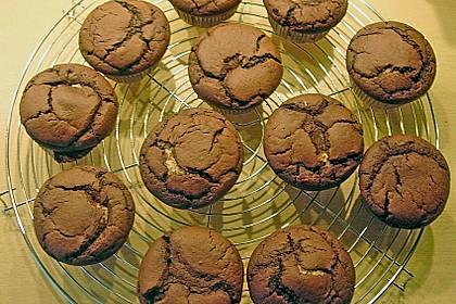 Schoko - Muffins mit Kokos - Herz 121