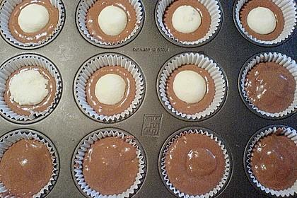 Schoko - Muffins mit Kokos - Herz 86