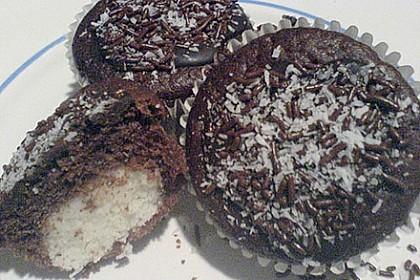 Schoko - Muffins mit Kokos - Herz 60
