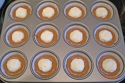 Schoko - Muffins mit Kokos - Herz 82