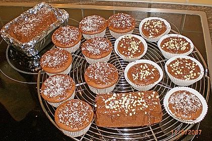 Schoko - Muffins mit Kokos - Herz 48