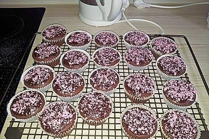 Schoko - Muffins mit Kokos - Herz 39