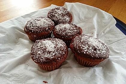 Schoko - Muffins mit Kokos - Herz 34