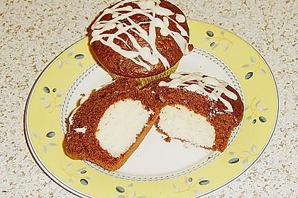 Schoko - Muffins mit Kokos - Herz 38