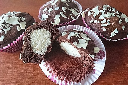 Schoko - Muffins mit Kokos - Herz 6