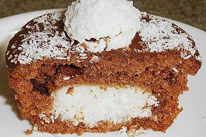 Schoko - Muffins mit Kokos - Herz 26