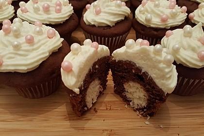 Schoko - Muffins mit Kokos - Herz 10
