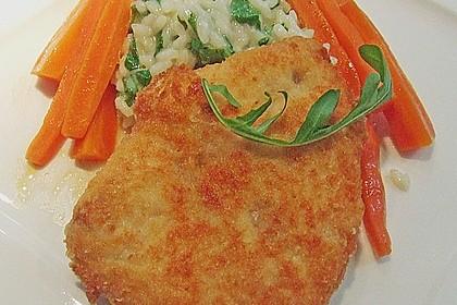 Putenschnitzel gefüllt mit Parmaschinken und Gorgonzola
