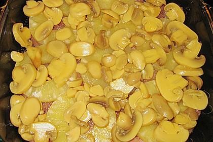 Schnitzel - Ananas - Auflauf 1