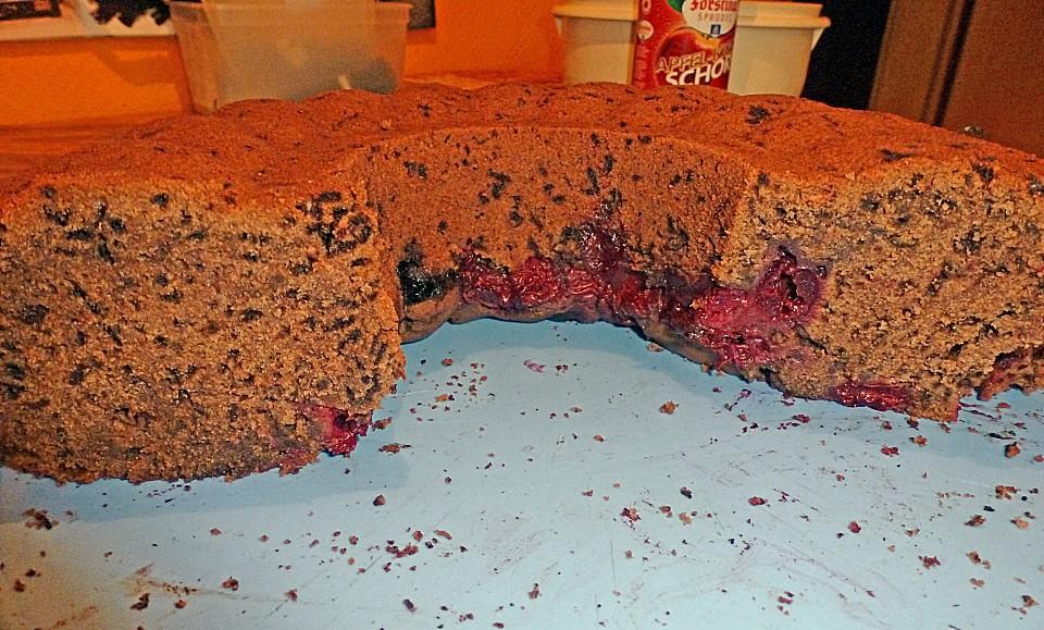 schokoladen rotwein kuchen mit kirschen rezept mit bild. Black Bedroom Furniture Sets. Home Design Ideas