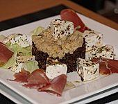 Belugalinsen mit mariniertem Feta (Bild)