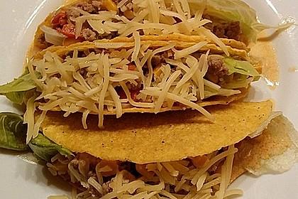 Tacos mit Hackfleischfüllung