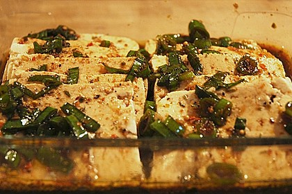 Marinierter Tofu 1
