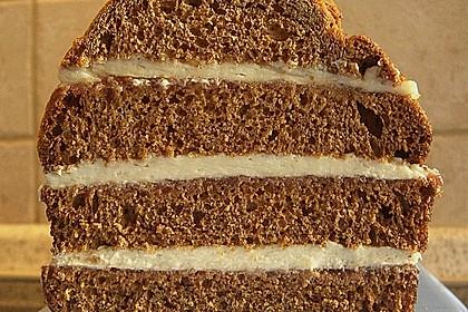 Honigkuchen mit Creme