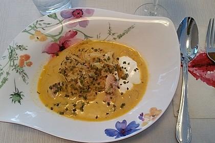 Sauerkrautsuppe mit geräucherter Forelle 1