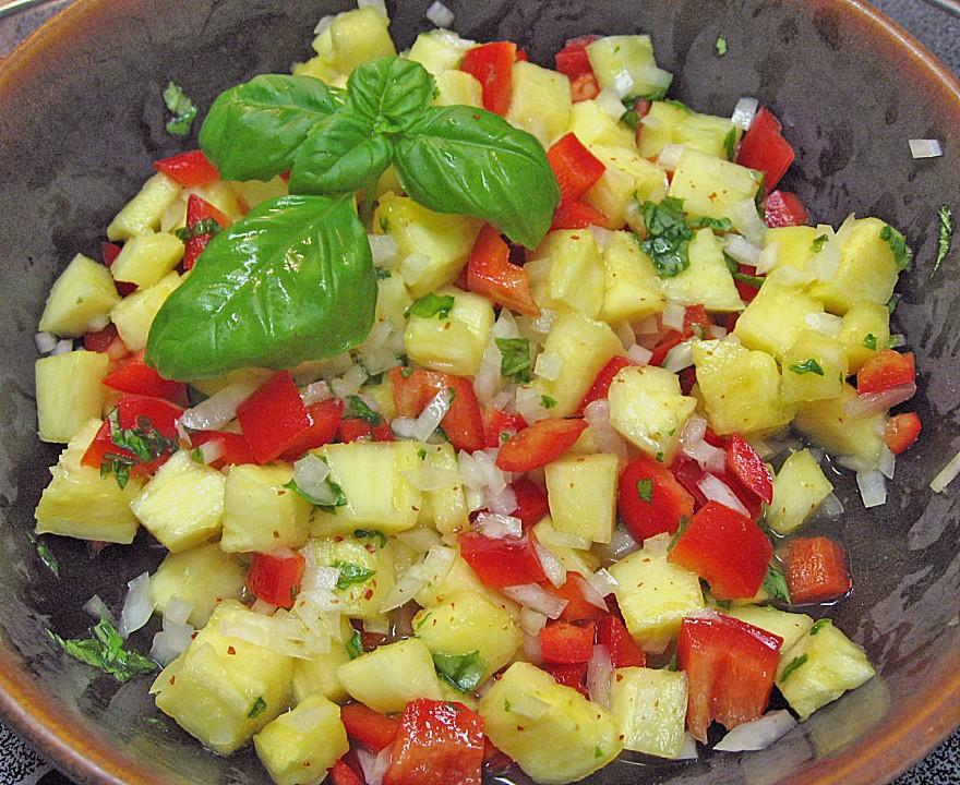 ananas salat rezept mit bild von jacktel. Black Bedroom Furniture Sets. Home Design Ideas