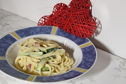 Spaghetti mit Zucchini – Carbonara 17