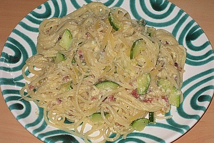 Spaghetti mit Zucchini – Carbonara 15