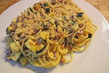 Spaghetti mit Zucchini – Carbonara 5