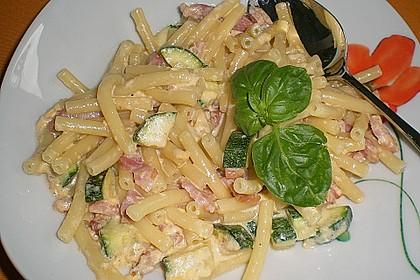 Spaghetti mit Zucchini – Carbonara 4