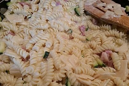 Spaghetti mit Zucchini – Carbonara 16