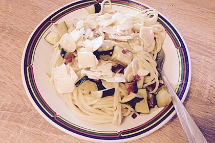 Spaghetti mit Zucchini – Carbonara 8