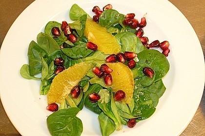 Farbenfreudiger Granatapfel - Orangen - Feldsalat 2