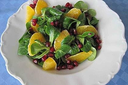 Farbenfreudiger Granatapfel - Orangen - Feldsalat 9