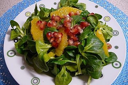 Farbenfreudiger Granatapfel - Orangen - Feldsalat 3