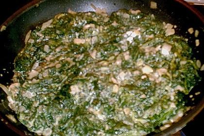 Frischkäse - Spinat - Omelett 4