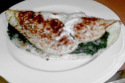 Frischkäse - Spinat - Omelett 3