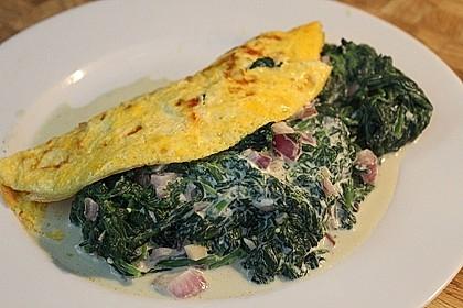 Frischkäse - Spinat - Omelett 2