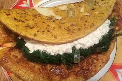Frischkäse - Spinat - Omelett 1