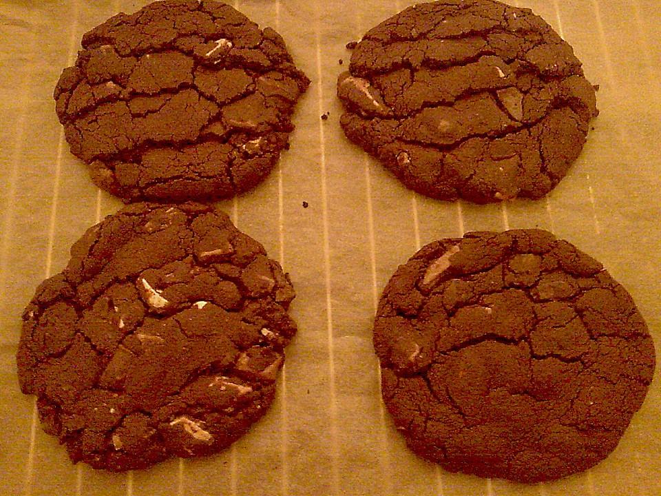 chocolate cookies la bondi american style rezept mit bild. Black Bedroom Furniture Sets. Home Design Ideas