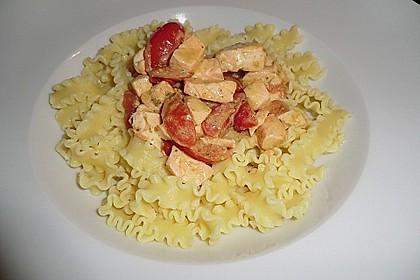 Spaghetti mit Lachs und Kirschtomaten 6