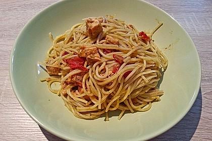 Spaghetti mit Lachs und Kirschtomaten 10