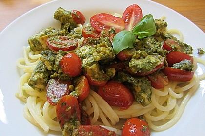 Spaghetti mit Lachs und Kirschtomaten 5