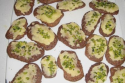 Kekse - ' Butterbrote mit Schnittlauch ' 4