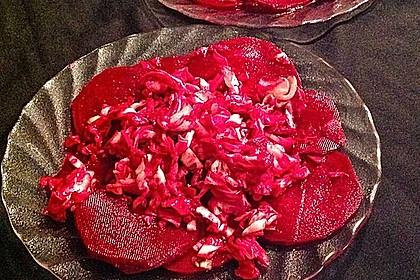 Dekoratives Rote Bete Carpaccio 3